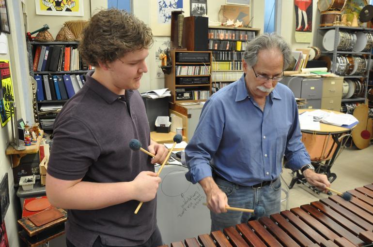 Michael Rosen with student